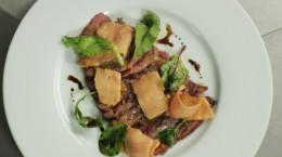 carpaccio de canard mi-cuit - entrée foie gras